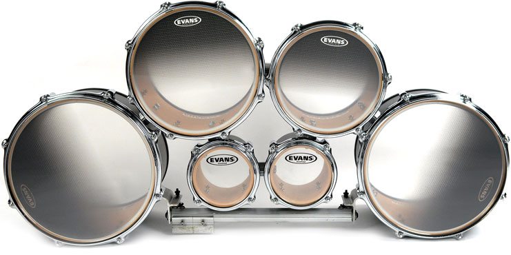 Drum Heads And Practice Pads System Blue